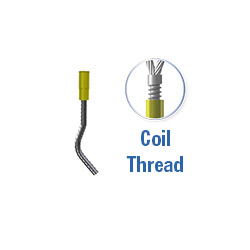 WAVED TAIL 2T COIL THREAD 3/4""